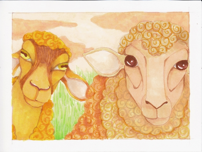 08 Two Sheep color4
