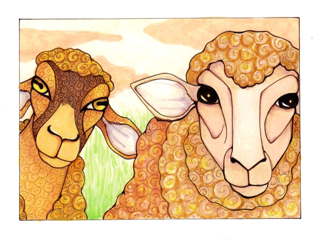 13 Two Sheep ink5