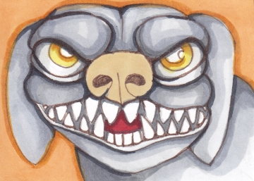 02 Dog Gargoyle color1