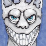 04 Teeth Gargoyle ink