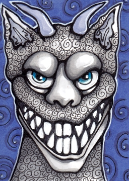 07 Teeth Gargoyle ATC