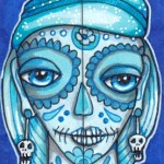 Blue MOOs Calavera