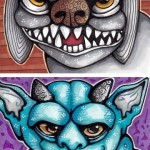 Canine Gargoyle and Denim Gargoyle
