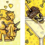 Lilah and her Mum, and Shrunken Head Martini