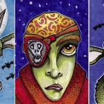 Three Ghoulish Halloween ATCs