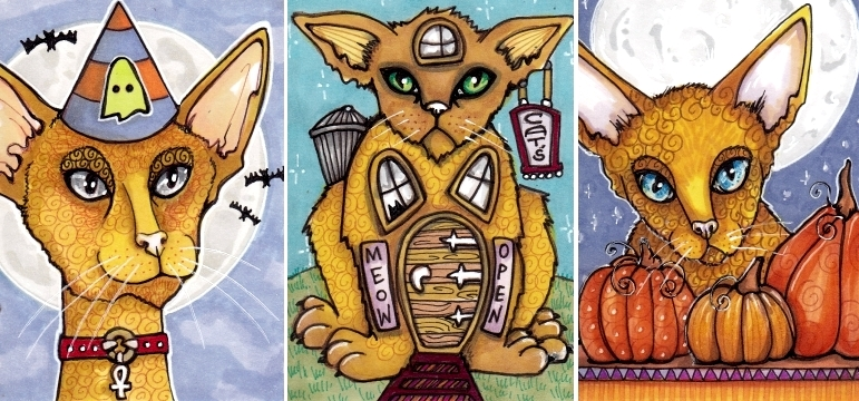 Three Halloweenish Cats