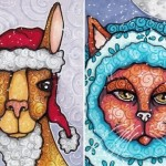 Llama in Santa Gear; Cat in Blue Parka