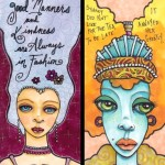 Two Skinny Cards with Text