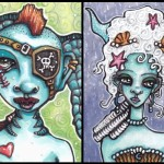 Nola, a Pirate Mermaid, and Mermaid Marie