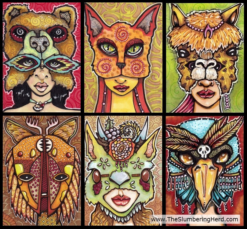 Six Spirit Masks