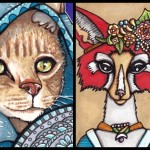 Four Animals in Fancy Dress
