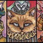 Three Cats and a Bontebok