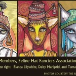 Three Feline Hat Fanciers (click to enlarge)