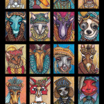 Fancy Clothes Animals Poster Version I