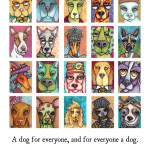 Art Card Dogs poster, Version I.