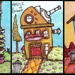 Three Tiny Houses, June 2014