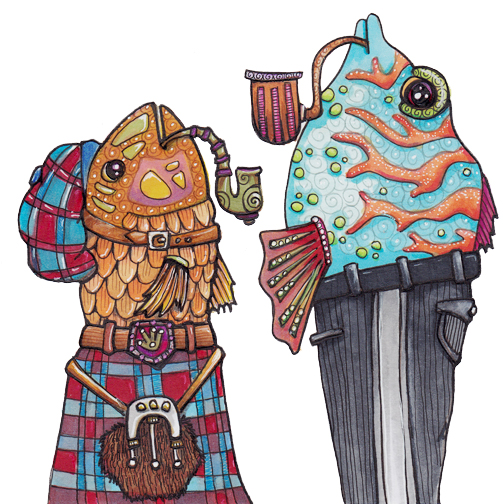 Two Smoking Fish, One Kilt