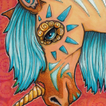 "Buckskin Blue, 5"" x 7""