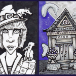 Uli with Familiars and Mausoleum for Mona