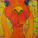 """Rabbit Beast, 5"""" x 7"""" Acrylics Painting 8 of 30 Paintings in 30 Days"""