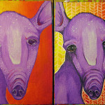 """Edwin, Day One & Day Two 5"""" x 7"""" Acrylics"""