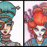 Faces 17 & 19, Elsa and Bubblegum Geisha