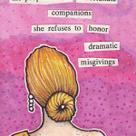 though accompanied Found Poetry ATC