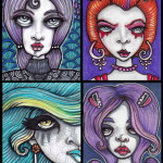 Four Goth Themed Girls
