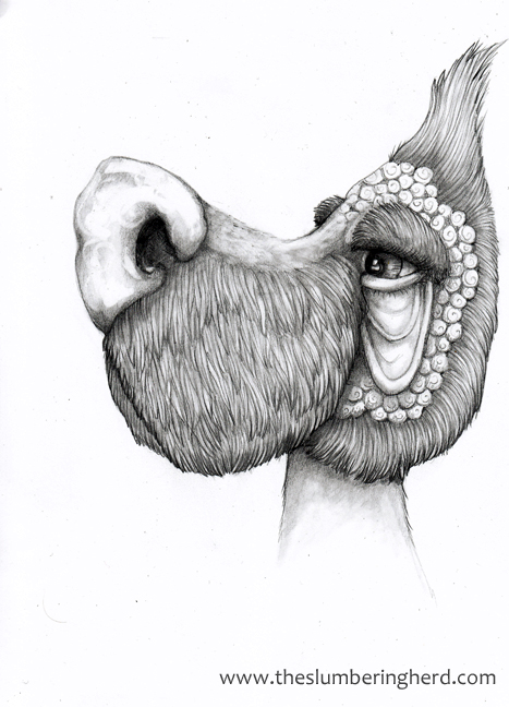 "Grady's Coiffure, 9"" x 12"" pencil"
