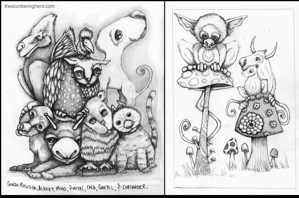 Lots More Pencil Critters!