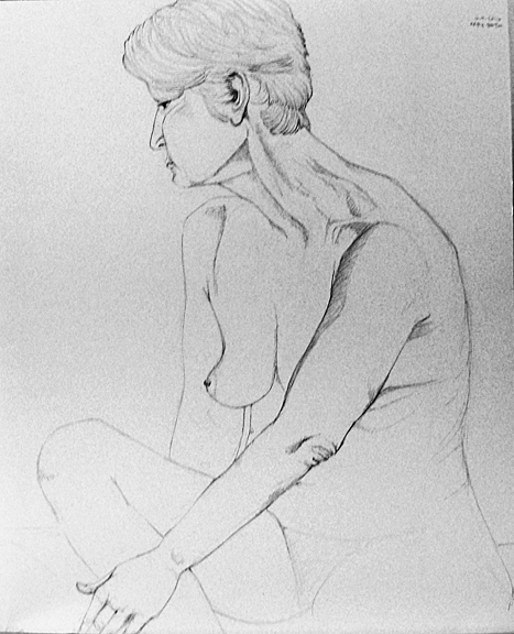 Life Drawing, October 9, 2016 mechanical pencil on smooth Bristol, 14x17