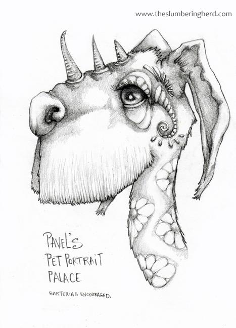 """Pavel's Pet Portrait Palace 9"""" x 12"""" pencil"""